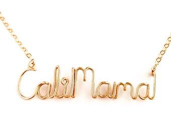 California Mama Necklace. Rose Gold California Mama Custom Necklace. Mother's Day Necklace. Cali Necklace. Cali Love.