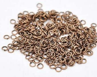100 jump rings, 5mm, copper