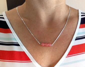 Matte Cherry Quartz Necklace