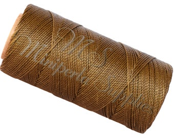 Spool of thread macramé waxed Linhasita - khaki