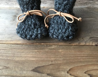 Cozy Upcycled Sheepskin Slipper Booties