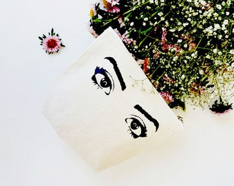 Lashes Makeup Bag , Cosmetic Bag , Makeup Organizer ,Cute Gift , Makeup Storage , Eyelashes Pouch , Make-up Bag , Toiletry Bag ,Gift for Her