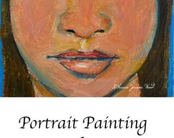 Miniature Apartment Size Art. Oil Painting Panel. Woman Portrait Original Painting. Miniature Fine Art. Home Wall Art. Get Real
