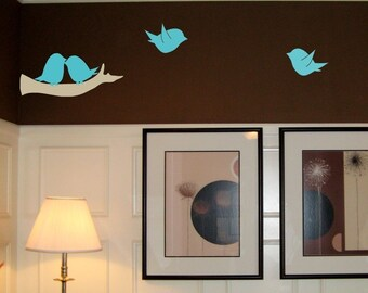 Lovebird Family Wall Decal Set
