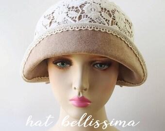 SALE  1920's  Hat Vintage Style hat winter Hats hatbellissima ladies hats millinery hats cloche Hats wool hats