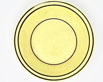 Vintage Bowls Yellow Black Bands Brendan Erin Stone By Arklow Ireland 1960s Irish Earthenware Bowl Pair