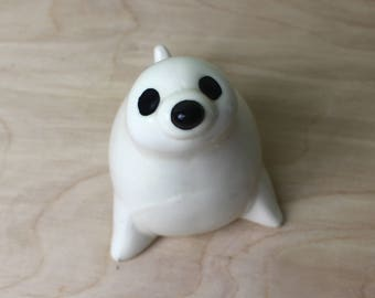 Ceramic Baby Seal Paperweight