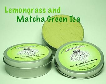 Bee Mindful Body Butter, Matcha Green Tea Lemongrass Body Butter, Lemongrass Body Butter, Shea Body Butter, Green Tea Lemongrass Body Butter