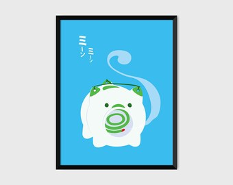 Japanese Katori Buta Pig Incense Print Pop Art Illustration