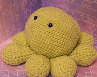 Kiwi the Crochet Octopus Plushie