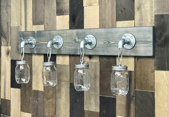 Mason Jar Light Bathroom Wall Fixture Lighting Fixture