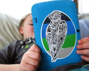 Zentangle Seahawk Sticker Waterproof Decal