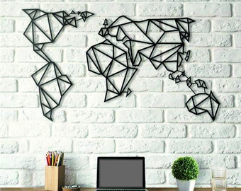 Metal world map etsy popular items for metal world map gumiabroncs Images