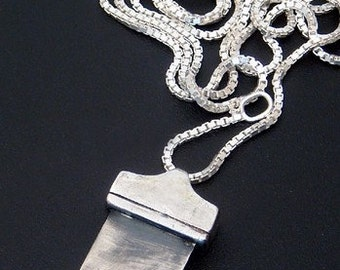 Sterling Silver Guillotine Pendant