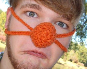 Orange you glad your nose is Warm - Nose Warmer - Man Woman Teen - Outdoor Lover - Hunter Sportsman - Winter Games -Vegan Friendly