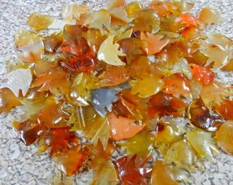 8 Assorted Lots Of Carnelian Agate Sunfish Charms 10 Pieces Per Lot In Reds, Mellow Yellows, Orange, Pink, White And Gray