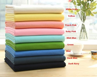 Solid French Baby Terry Knit Fabric by Yard, Width 95cm (37 Inch) - 9 Colors Selection