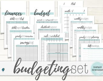PRINTABLE BUDGET Planner (BIG-kit): Printable Budget & Planning Forms for your Budget Binder/Organizer, Instant Download!
