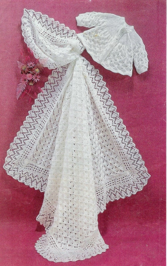 wedding ideas etsy baby matinee jacket and christening shawl for 27878