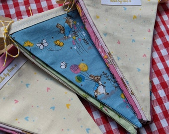 Peter Rabbit fabric bunting / garland / pennant - made by love