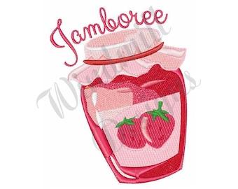 Strawberry Jam - Machine Embroidery Design