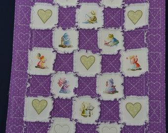 Sunbonnet Sue Embroidered Rag Quilt