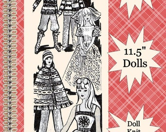 Vintage Barbie Knitted Pattern Design #630 Doll Clothes Wardrobe