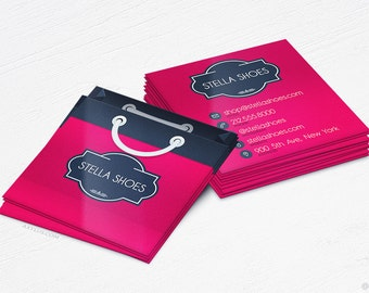 Online store cards etsy shopping bag business cards boutiquestore design and printing 16pt uv colourmoves