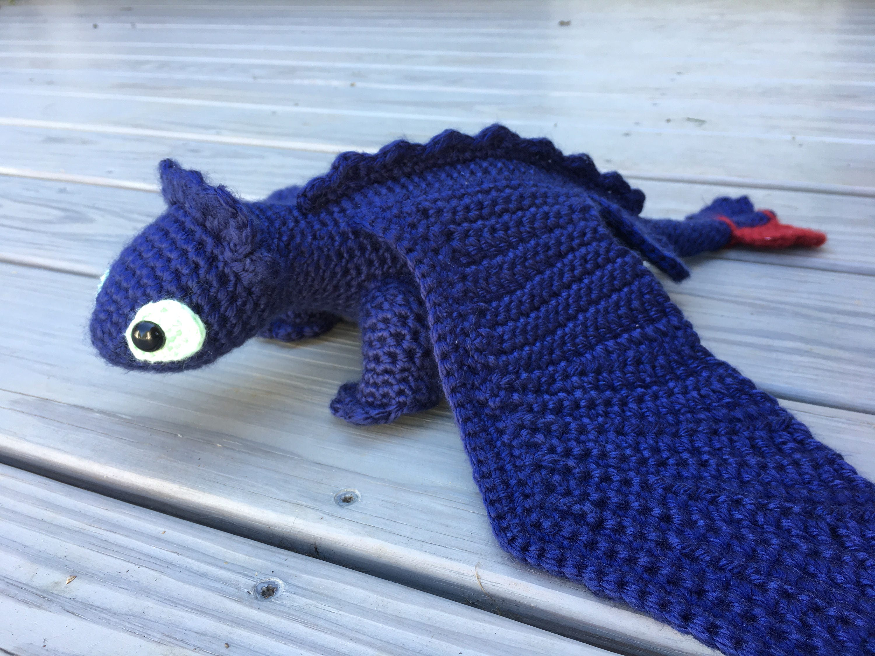 Toothless - Night Fury Crochet Pattern, How to Train Your Dragon ...
