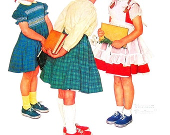 Norman Rockwell - The Check Up - 1961 Vintage Print - Vintage Book Page - 13 x 11