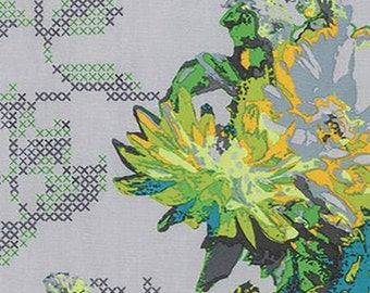 Mod Corsage Quilt Fabric by Anna Maria Horner, Memory Field REMNANT almost 1 yard