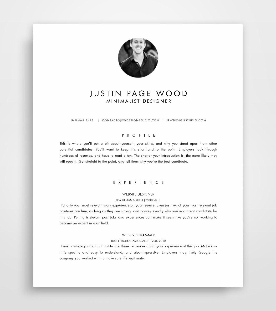 Lebenslauf mit Foto Lebenslauf Vorlage Mac CV-Design