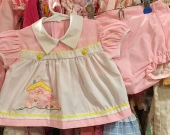 70s Baby Dress 0/3 Months