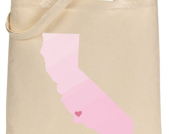 Dip Dye Welcome Totes!- Destination Orange County California Set of 25