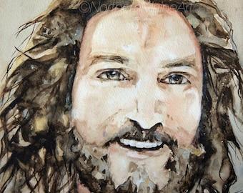 Smiling Jesus Art Print