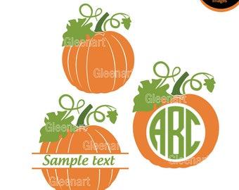 Pumpkin SVG, Pumpkin Monogram, Hallowen Svg Bundle, Hallowen svg, Cutting File, Halloween svg files, Pumkin monogram svg  Instant Download
