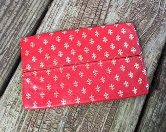 Italian Leather Tissue Pouch