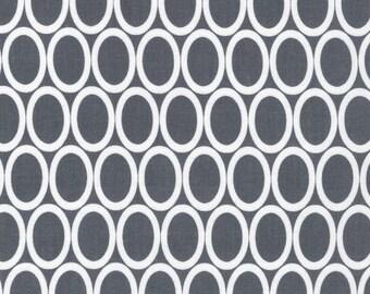 Half Yard Remix Ovals in Grey, Ann Kelle for Robert Kaufman Fabrics, 100% Cotton Fabric