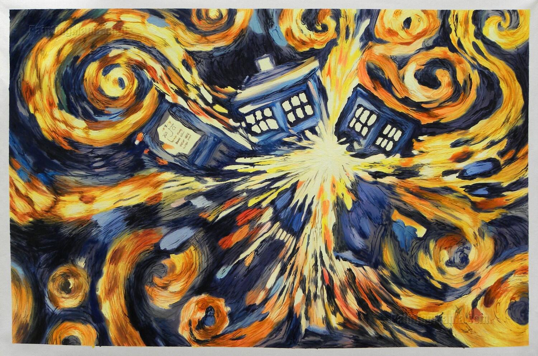 exploding tardis blue box exploding doctor who