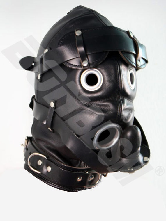 The Loon Bdsm Mask Locking Leather Hood With Pure Silicone-6854