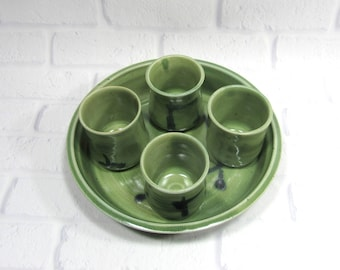 Whiskey Cups Set - Shot Glasses - Espresso Cups - Set of cups - Whiskey cups and serving tray