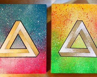 Tri-Force Diptych