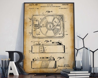 Combination Sound Patent Print| Gift for Musician| Studio Decor| Gift for DJ| Music Poster| HPH277