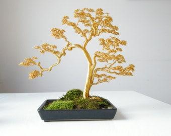 Informellen aufrecht Bonsai-Draht Baum des Lebens