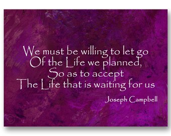 GRADUATION CARD - Inspirational Quote  by Joseph Cambell  - Also available as a Print or Quote Block - Great Gift Idea (CGRAD2013005)
