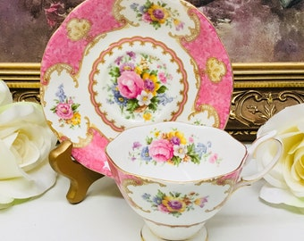 Royal Albert Lady Carlyle teacup and saucer.