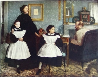 The Bellelli Family, by Degas - a Frameable, Vintage 1952 Frameable Art Print
