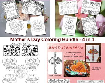 Mother's Day Coloring Bundle - 4 in 1 (Save 30%)