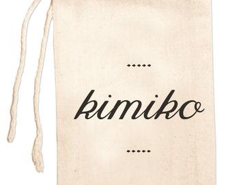 Custom Name Gift Bag, Girlfriend Gift Bag, Personalized Name Bag, Bridesmaid Jewelry Bag, Wedding Drawstring Favor Bag, Custom Necklace Bag