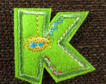"""Fusible letter """"K"""" to apply or sewing"""